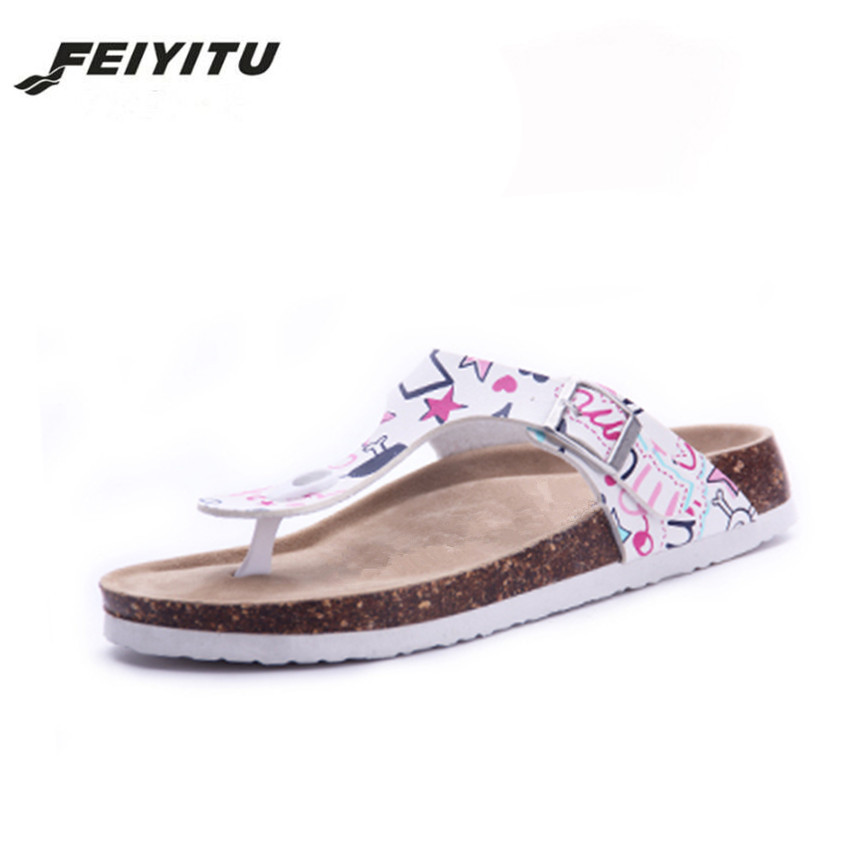 FeiYiTu New Beach Cork Flip Flops Slipper 2017 Casual Summer Mixed Color Outdoors Valentine Sandals Flat Shoe Plus Size 35-44 45 2018 new summer style beach cork slipper flip flops sandals women mixed color casual slides shoes flat with plus size 35 45