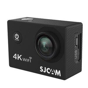 """Image 4 - Sjcam mini capacete sj4000 air, câmera de ação de 4k e 30fps, chipset allwinner 1080p 60fps, wifi, esportivo, dv, 2.0 """"dv câmera esportiva à prova d água"""