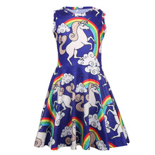 Baby Girls Dress Unicorn Sleeveless Clothing Children Costume Princess Party Kid Clothes 1207