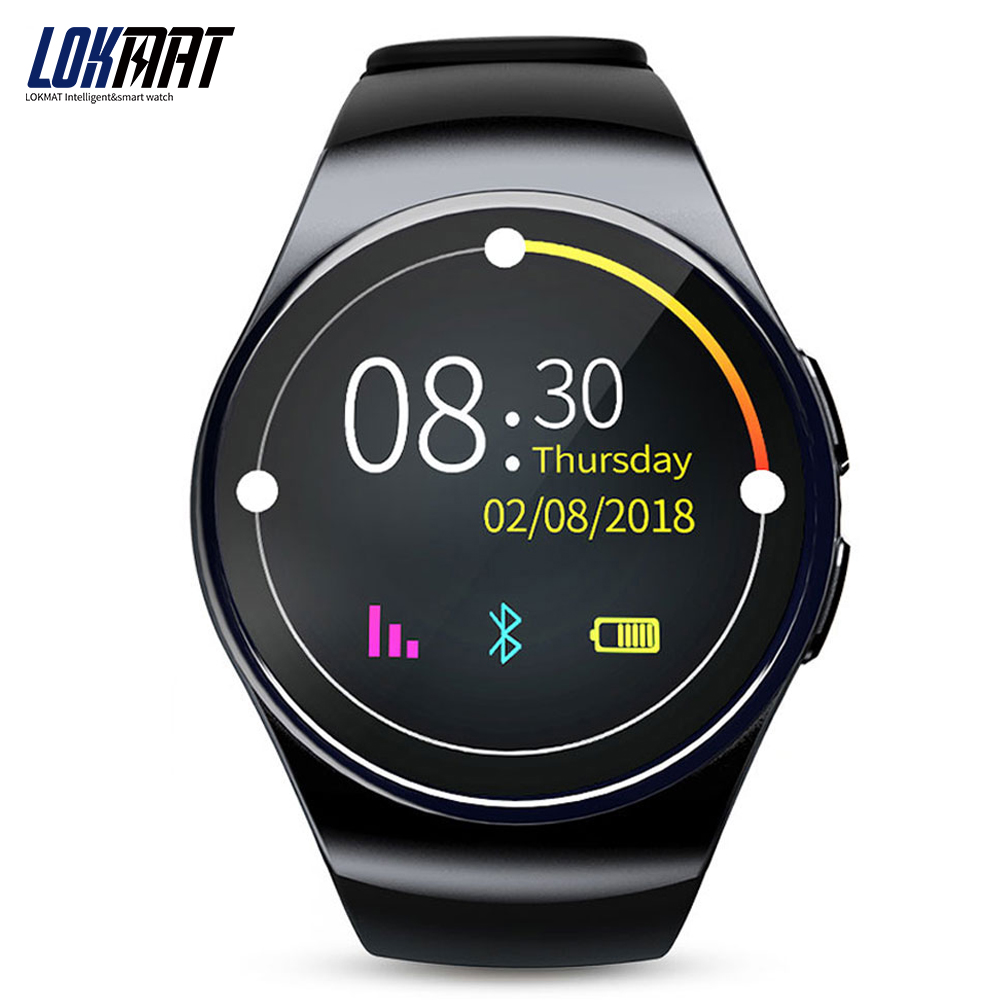 LOKMAT Sport Smart watch Android Phone Pedometer Support SIM Card MTK2502 Digital Smart-watch For iphone aiwatch g3 smart watch phone mtk2502 bluetooth 4 0 gsm sim card