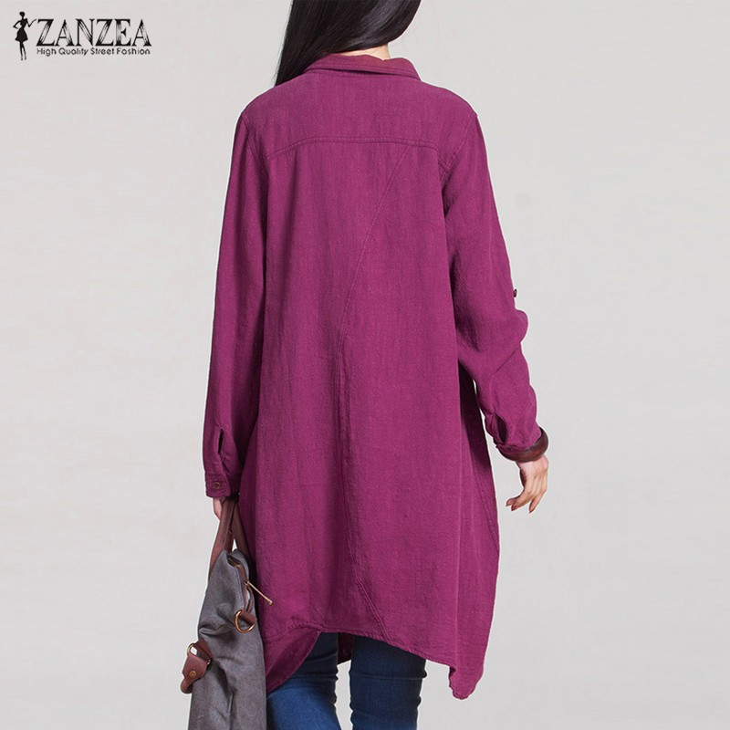 Blusas Cotton Casual Long