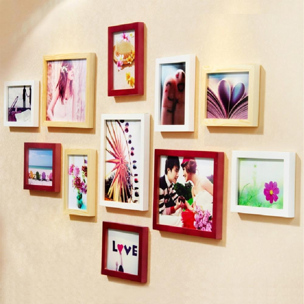 Creative A4 Size Hanging Photo Frame Wall Art Decor Wood