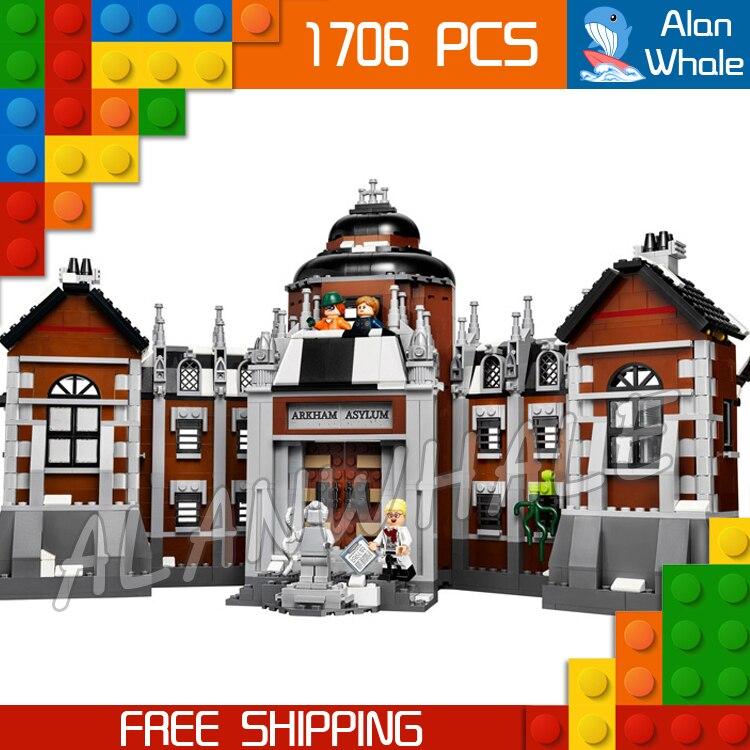1608 pièces Super héros Batman film Arkham asile Madhouse 10741 Figure blocs de construction assembler des jouets compatibles avec LegoING