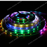 20m/lot Tube Waterproof IP67 Led Pixel Strip 5050 RGB Led Strip WS2801 96Leds 32IC Tape Home Decoration Lamps Car light