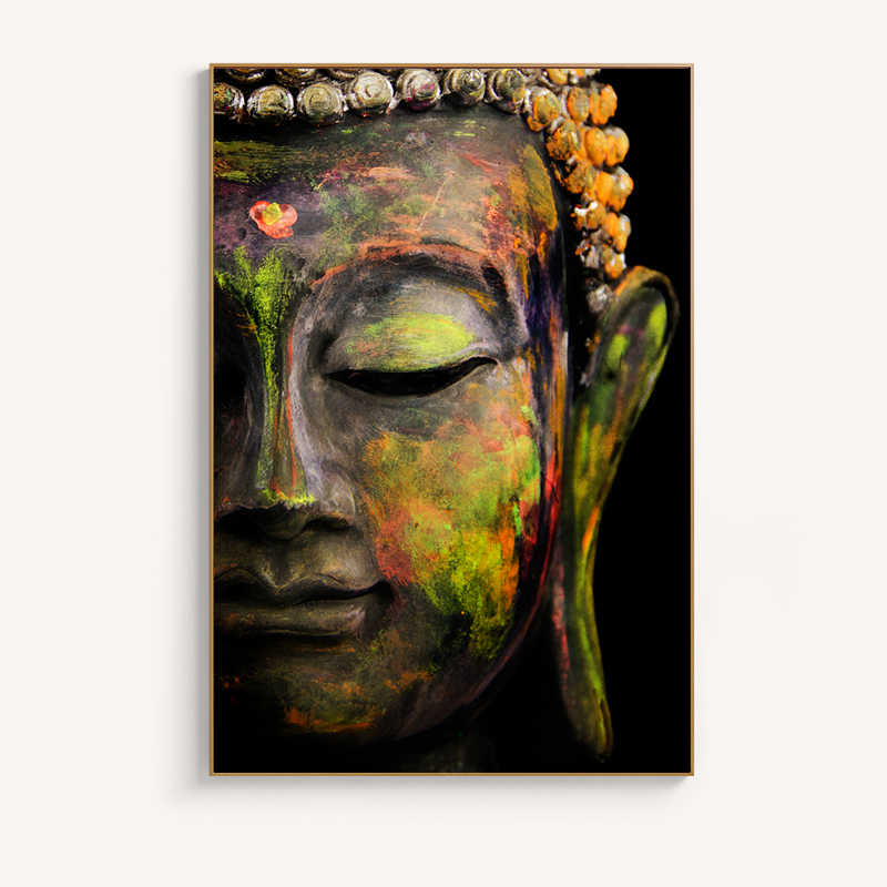 Modern Posters and Prints Wall Art Canvas Painting Classical Lord Buddha Decoration Pictures For Living Room Home Decor No Frame