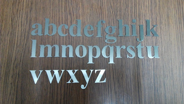 Steel Letter Cutting Laser Cutting Stainless Steel English Letter Case Custom Street