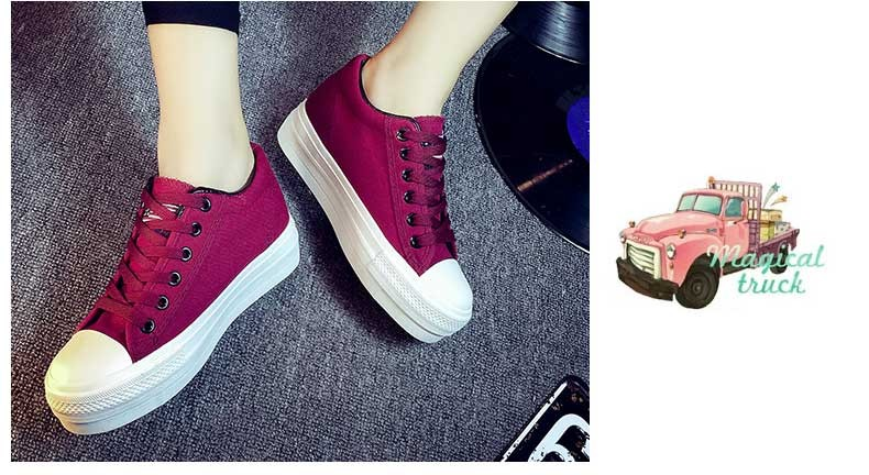 Hot Sale Women Shoes Thick Bottom Platform Non-slip Women Canvas Shoes Round Toe Mix Color Shoes For Women Drop Shipping S95 (20)
