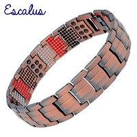 Escalus 2019 Pure Copper Magnetic Bracelet Trendy Toughness Men's Jewelry Vintage Negative Ions Germanium Charm Wristband