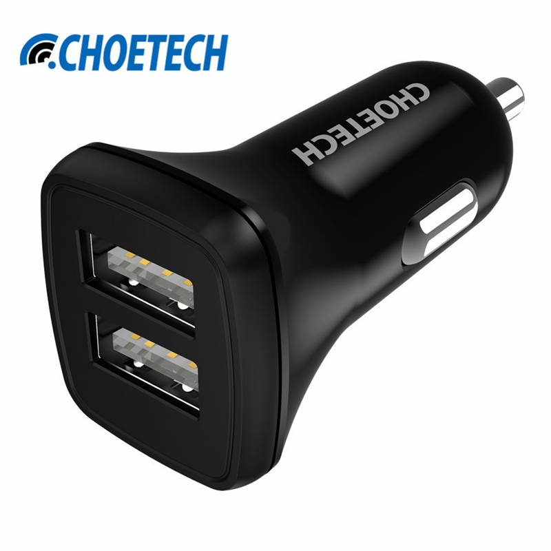 Universal USB Car Charger,2.4A*2 Dual Port Intelligent Car-charger Adapter for iPhone 7 6S Plus 5S iPad Xiaomi Samsung Galaxy S7