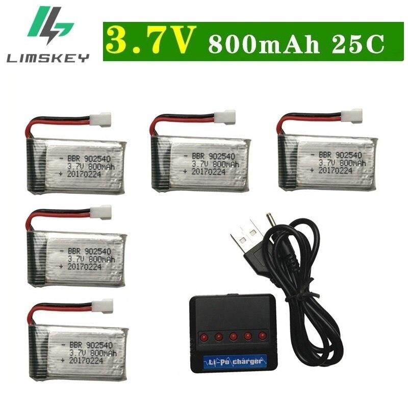 3,7 V 800 mAh lipo batería y cargador para SYMA X5 X5C X5HW X5SW M68 para RC Cámara Droens Qaudcopter REPUESTO 902540 piezas de la batería