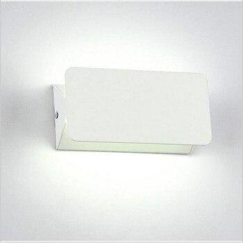 10 개/몫 8 w 알루미늄 광장 led 벽 램프 AC85-265V 디 밍이 가능한 cob led 현대 홈 조명 실내 야외 장식 조명