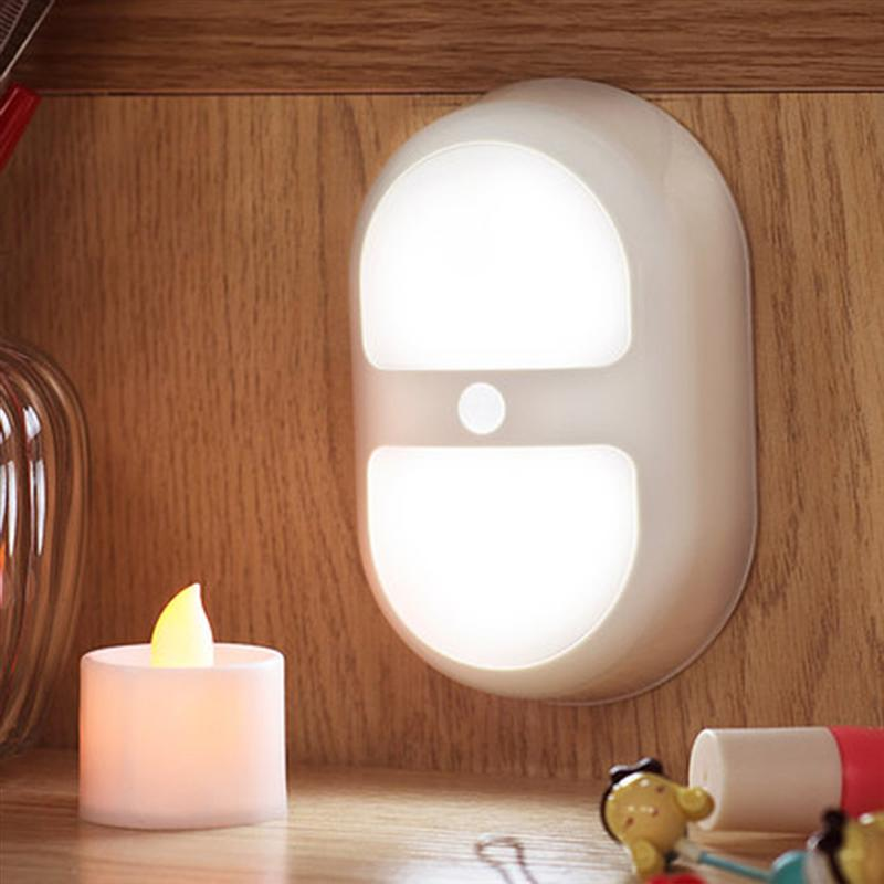 ZjRight Cold White Mini Sensitive Motion Sensor Light Energy-Save Wall Lamp Induction Cabinet WalkWay Night Light for Children