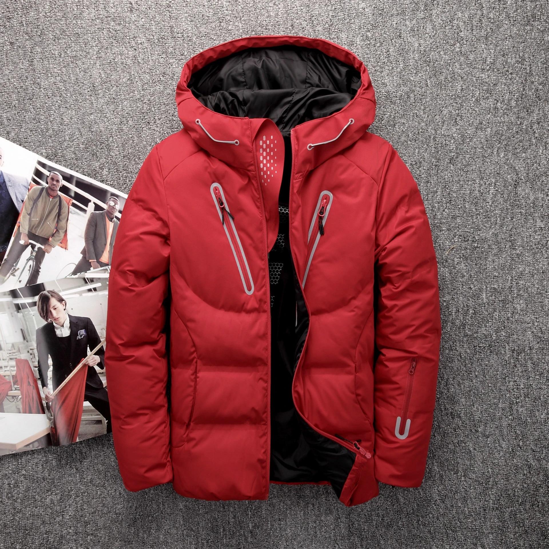 Men/'s Winter Ultralight Duck Down Jacket Thicken Hooded Outwear Coat PLUS SIZE