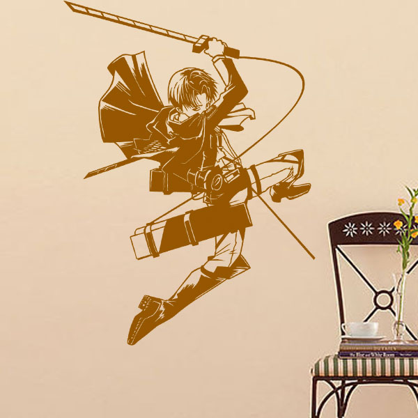 DCTAL Attack on Titan Cartoon Wall Stickers Wall Decors Decal Wall Paper Home Decor