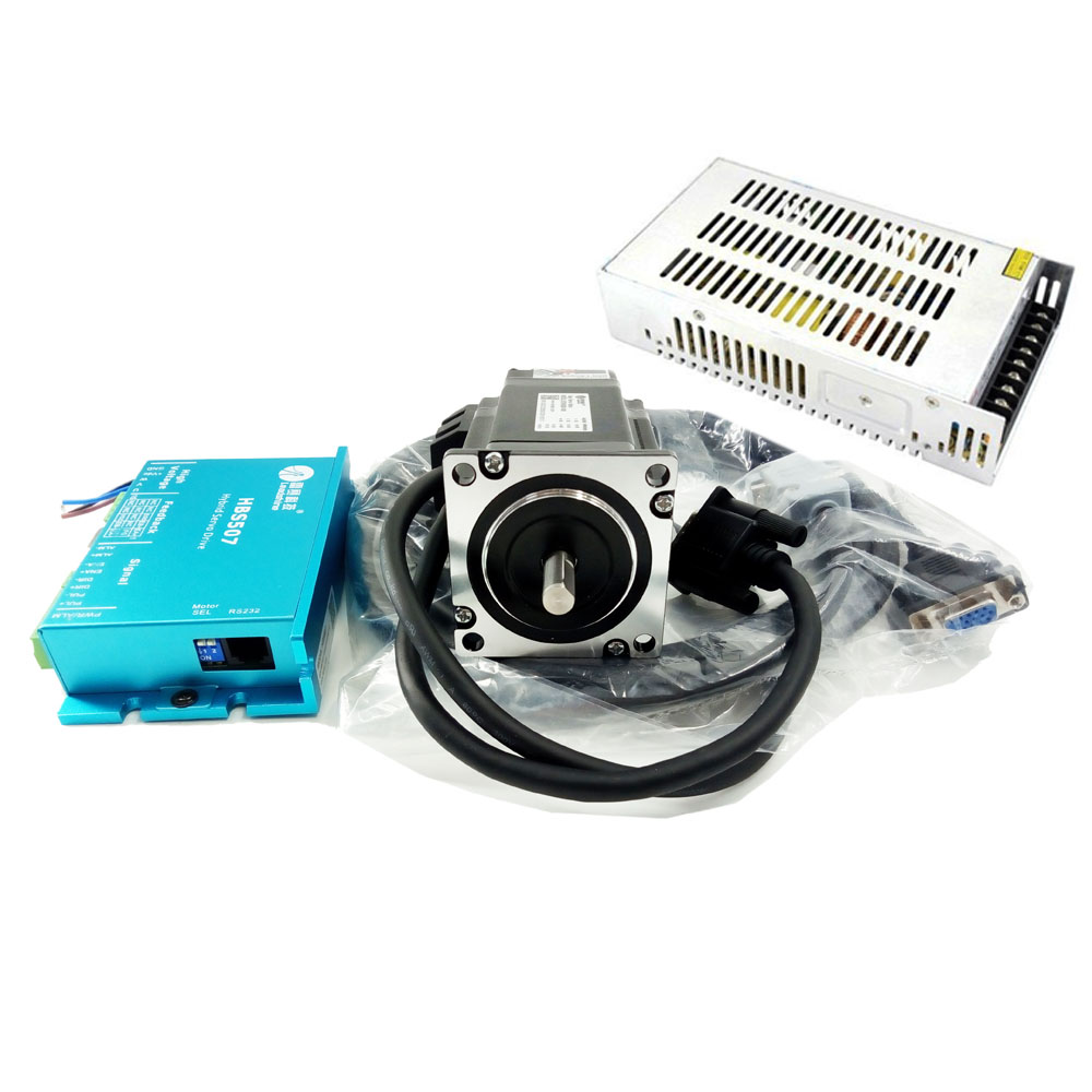 Nema23 L=97mm Closed Loop Stepper Motor Kit Hybrid Servo Driver & DC 36V Power Supply ES-D508+ES-M32320 57 3Phase 2Nm Step Servo