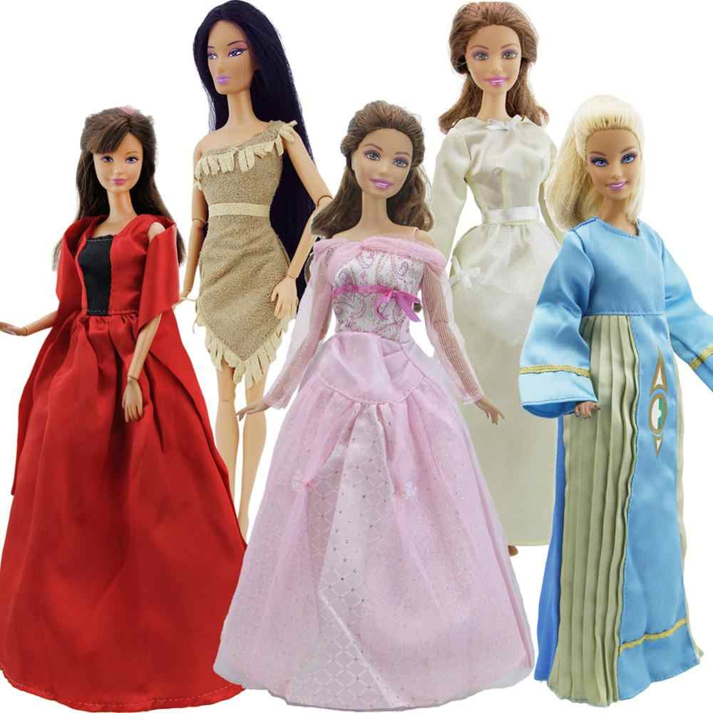 9657909f41deae Detail Feedback Questions about 5 Pcs Fairytale Dress Princess Pink Wedding  Party Gown Accessories Clothes Clothing for Barbie Doll Christmas Gift Set  on ...