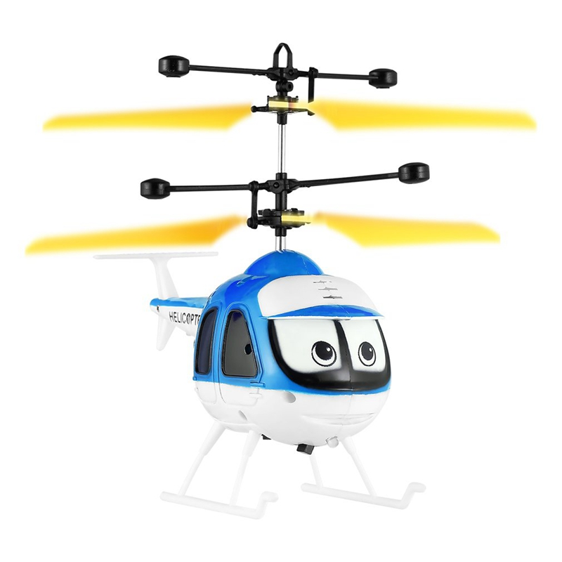 Nduction Flying Cartoon Rc Helicopter Toys Mini Remote Control Drone Aircraft For Kid Plane Floating Toys image