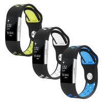 Rubber Watch Band Silicone Strap For Fitbit Chagre 2 Bands Diamond Heart Rate Smart Bracelet Stainless