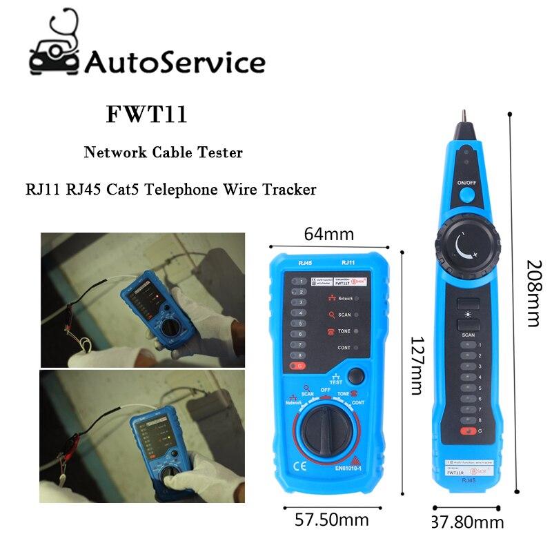 Hohe Qualität Netzwerk Kabel Tester Rj11 Rj45 Cat5 Telefon Draht Tracker Tracer Toner Ethernet Linie Finder
