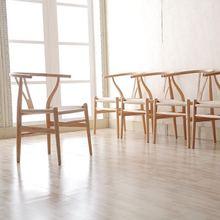 U-BEST старинный деревянный стул дизайн Досуг Wishbone Hans Wegner Y стул из бука Эргономичный для гостиной стул