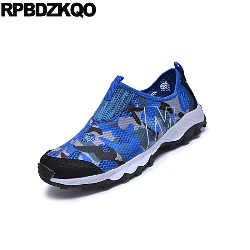 Caminar Zapatos Resbalón gris Cielo gris Impermeable Hombres Agua Los En De Transpirables Confort Casuales Oscuro Azul Pisos 2018 Verano Moda Ligero Camuflaje Diseño tC64HRqx0w