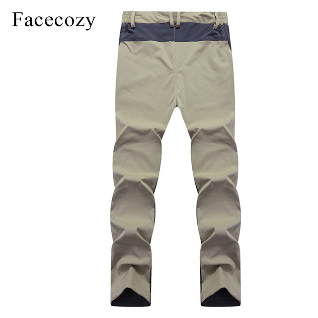 Facecozy Men Summer Breathable Quick Dry Outdoor Sport Pants Elastic Thin Anti-UV Trousers Spring Male Hiking Fishing Long Pants 3