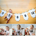 Infant Babies Numbers Bodysuits Cotton Newborn Kids Baby Boys Girls Letters Printed Twins Bodysuit Jumpsuit Clothes Outfits