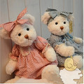 2 pieces Couple Teddy Bear With Cloth Plush Teddy Bear Toy  Birthday Gift