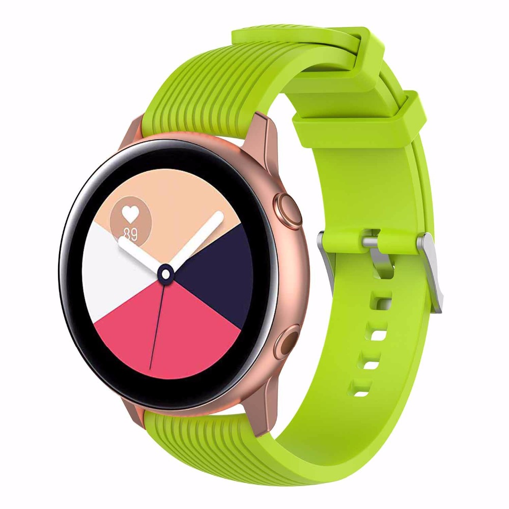 Samsung galaxy watch active watchband silicone sports watch strap for Samsung Gear Sport S2 classic huawei watch2 watch2 pro in Smart Accessories from Consumer Electronics
