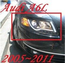 Бампер лампы для 2 шт фар A6L 2005 2006 2007 2008 2009 2010 2011 Автомобильные аксессуары, a6l Автомобильные фары светодиодные дневные ходовые огни
