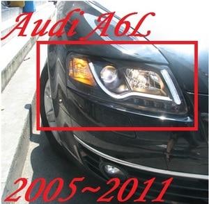 Image 1 - Bumper lamp for 2Pcs Headlights A6L 2005 2006 2007 2008 2009 2010 2011 car accessories,a6l car lights LED Daytime Running Lights