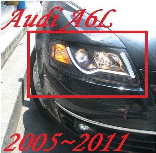 Bumper lamp for 2Pcs Headlights A6L 2005 2006 2007 2008 2009 2010 2011 car accessories,a6l car lights LED Daytime Running Lights