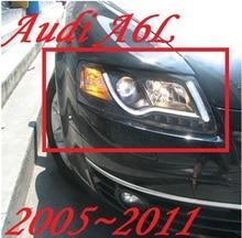 Luz para parachoques para 2 uds faros delanteros A6L 2005 2006 2007 2008 2009 2010 2011 accesorios para coche, luces de coche a6l luces de circulación diurna LED