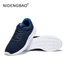 NIDENGBAO Men's Super Light Sport Running Shoes Sneakers Breathable Mesh Outdoor Athletic Shoes Fitness Walking Plus Size EUR 48(China)
