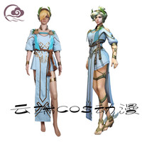 New Clothing Made The Game OW D.VA Summer Games Cosplay Angels Victory Goddess Costumes Full Set O