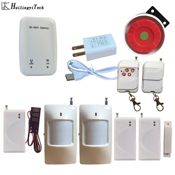 New WiFi IOS Android APP Control Alarm Home Security Alarm System Only WiFi Connect Alarm System with Wireless Sensors