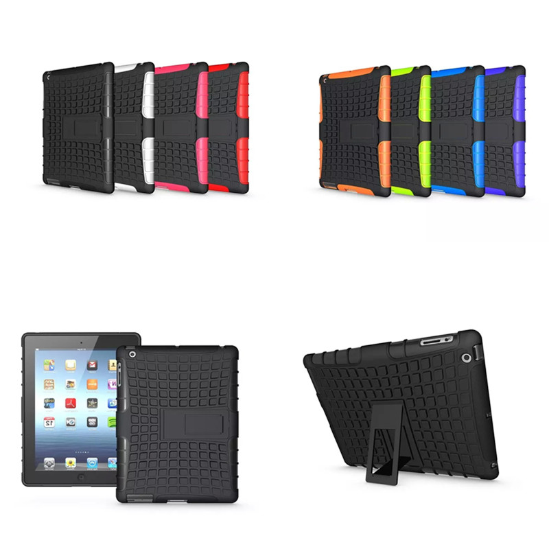 HH Luxury For ipad 2 3 4 Cover Heavy Duty TPU Hard PC Hybrid Case Shockproof Stand Tablet Cases For Apple Ipad2 ipad3 ipad4