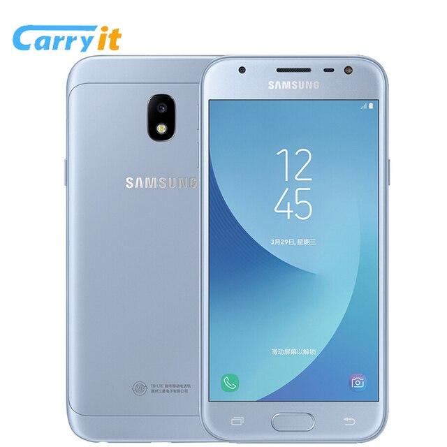 Original Samsung Galaxy J3 2017 J3300  J3 Pro 3G 32G 4G LTE 5.0'' 13.0MP NFC Google play Mobile phone Snapdragon Fingerprint ID