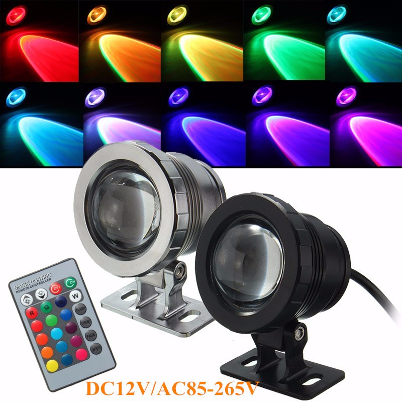 5W RGB Light Fountain Pond Spotlight LED Underwater Light For Pool Waterproof IP68 With Remote Control AC85-265V/DC12V