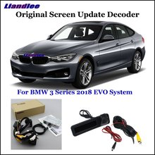 Liandlee For BMW 3 F30/F31/F34/G20 EVO System Car Original Screen Update Rear Reverse Camera Digital Decoder Display Plus