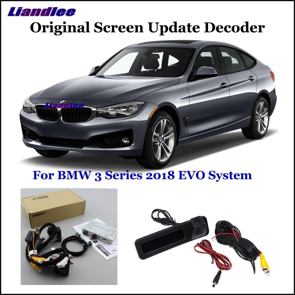 Liandlee Para BMW 3 F30/F31/F34/G20 EVO Sistema Sistema de Atualização De Tela Original Do Carro Reverso Traseiro câmera Digital Decodificador Exibição Mais
