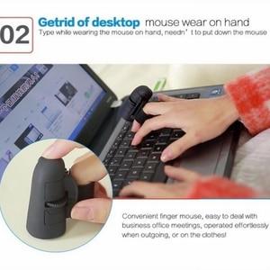 Image 4 - ユニバーサルフィンガーマウス Bluetooth ワイヤレスフィンガーリング光学式マウス 1600Dpi ハンドマウスノートパソコン用デスクトップポータブル