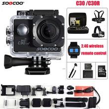 SOOCOO Action Kamera C30R fernbedienung 4 Karat NTK96660 Wifi Gyro Einstellbaren betrachtungswinkel 170 Grad Wasserdichte C30 Sport Kamera