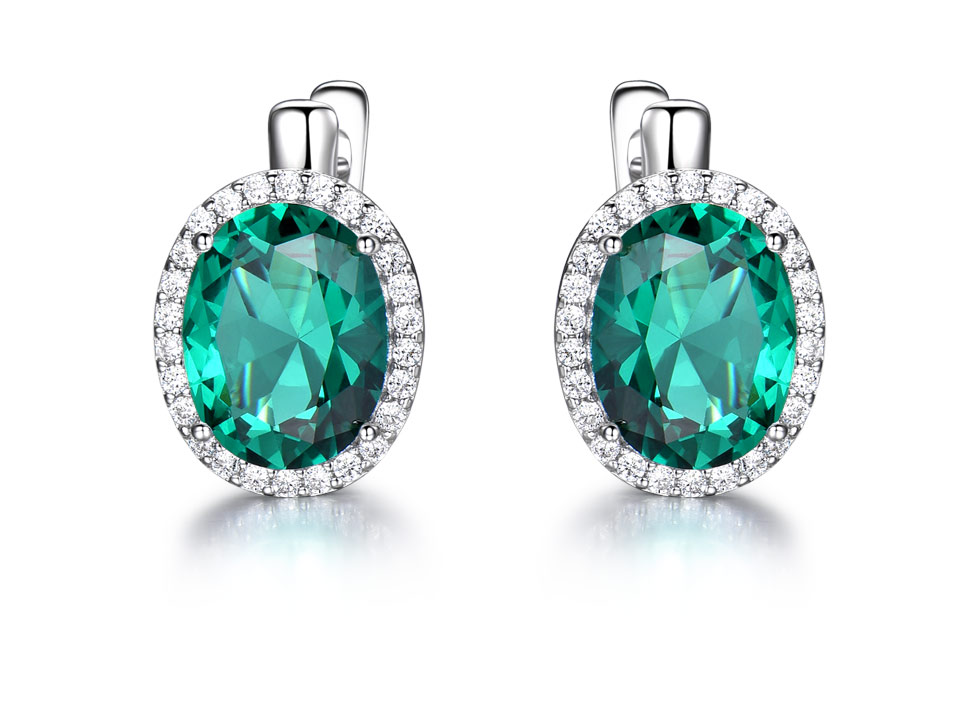 UMCHO-Emerald-925-sterling-silver-clip-earring-for-women-EUJ084E-1-PC_02