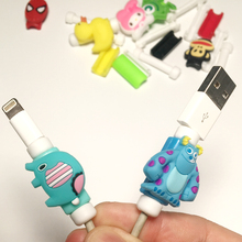 10 Pieces New Cable Protector For IPhone Phone USB Cables Cartoon Style Cover D5 Plastic For Charger Wire Anti-Fracture Protect