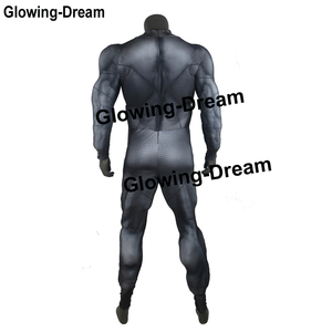 Image 4 - Glowing Dream High Quality Relif Muscle Padding Batman Suit Embossed Muscle Batman Cosplay Costume With Logo For Men