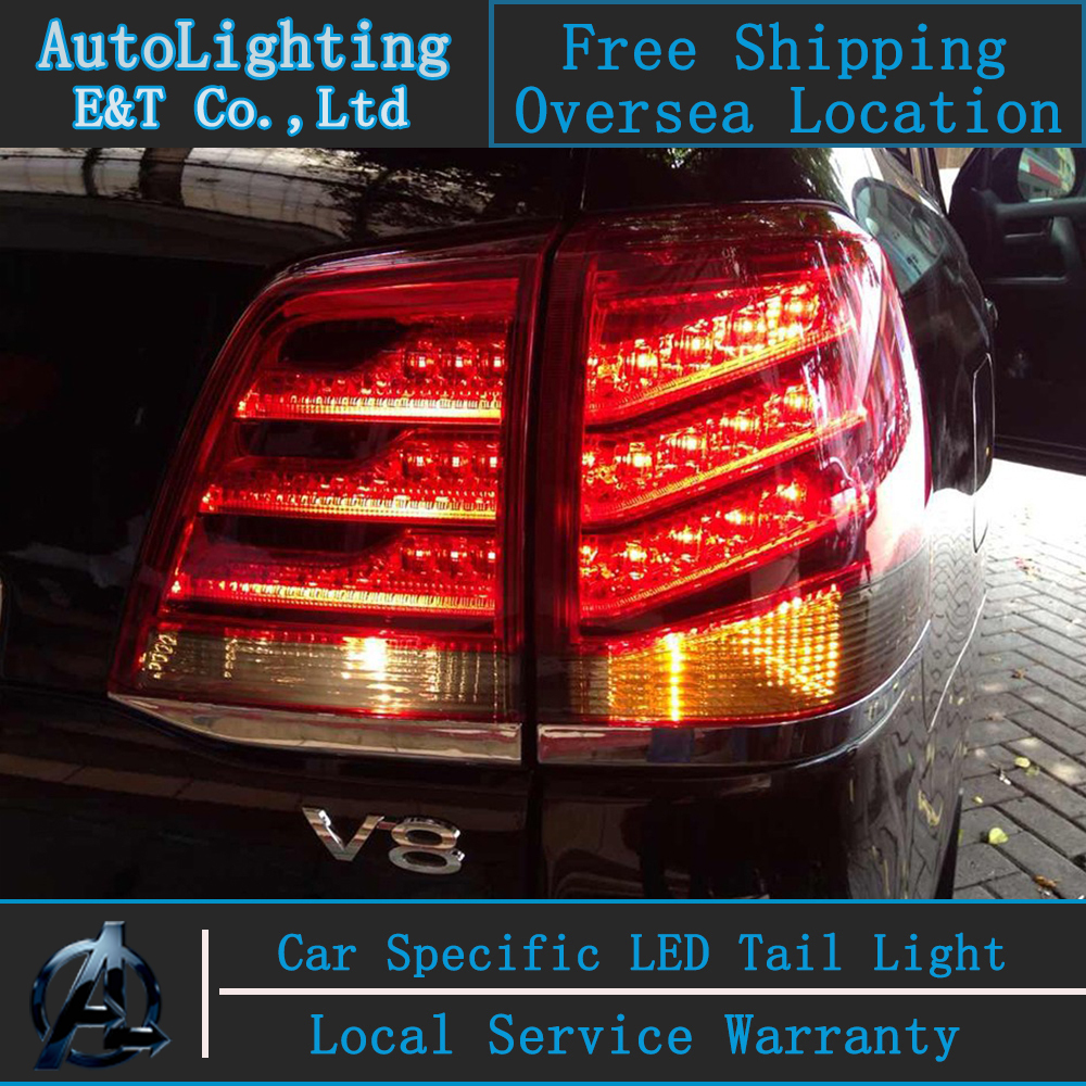Car Style LED Tail Lamp for Toyota Land Cruiser tail lights 2010-2012 LC200 rear trunk lamp drl+signal+brake+reverse car styling tail lights for toyota land cruiser 2010 2012 led tail lamp rear trunk lamp cover drl signal brake reverse