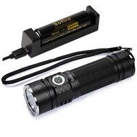 Sofirn SP33 Kit Powerful LED Flashlight 26650 18650 LED Torch Light CREE XHP50 LED Portable Lamp Power Indicator Lanterna
