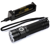 Sofirn SP33 Kit Powerful LED Flashlight 26650 18650 LED Torch Light CREE XHP50 LED Portable Lamp Power Indicator Lanterna