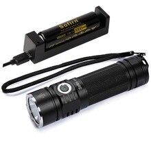 Sofirn SP33 lampe de poche LED puissante torche 3000lm IPX8 26650 18650 CREE XHP50.2 lumière LED Portable lampe indicateur de puissance lanterne